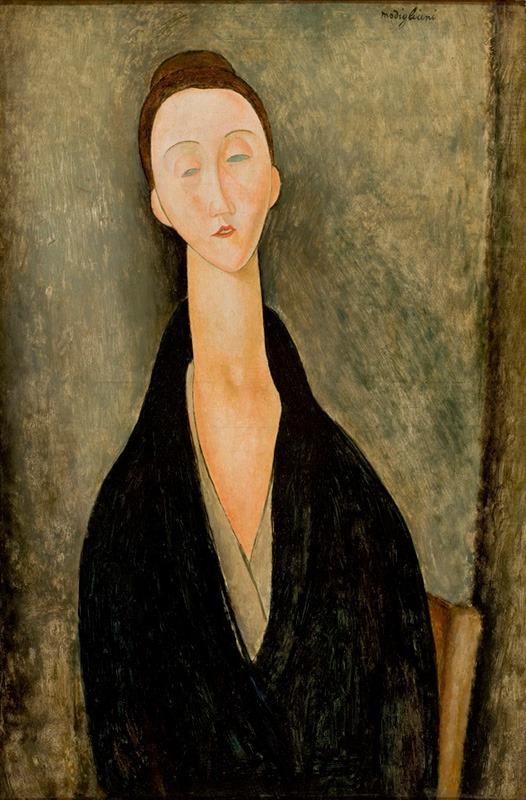 Amedeo Modigliani Portrait of Lunia Czechowska (formerly identified as Mrs. Hanka Zborowska) 1918, São Paulo Museum of Art, Accession number: MASP.00152