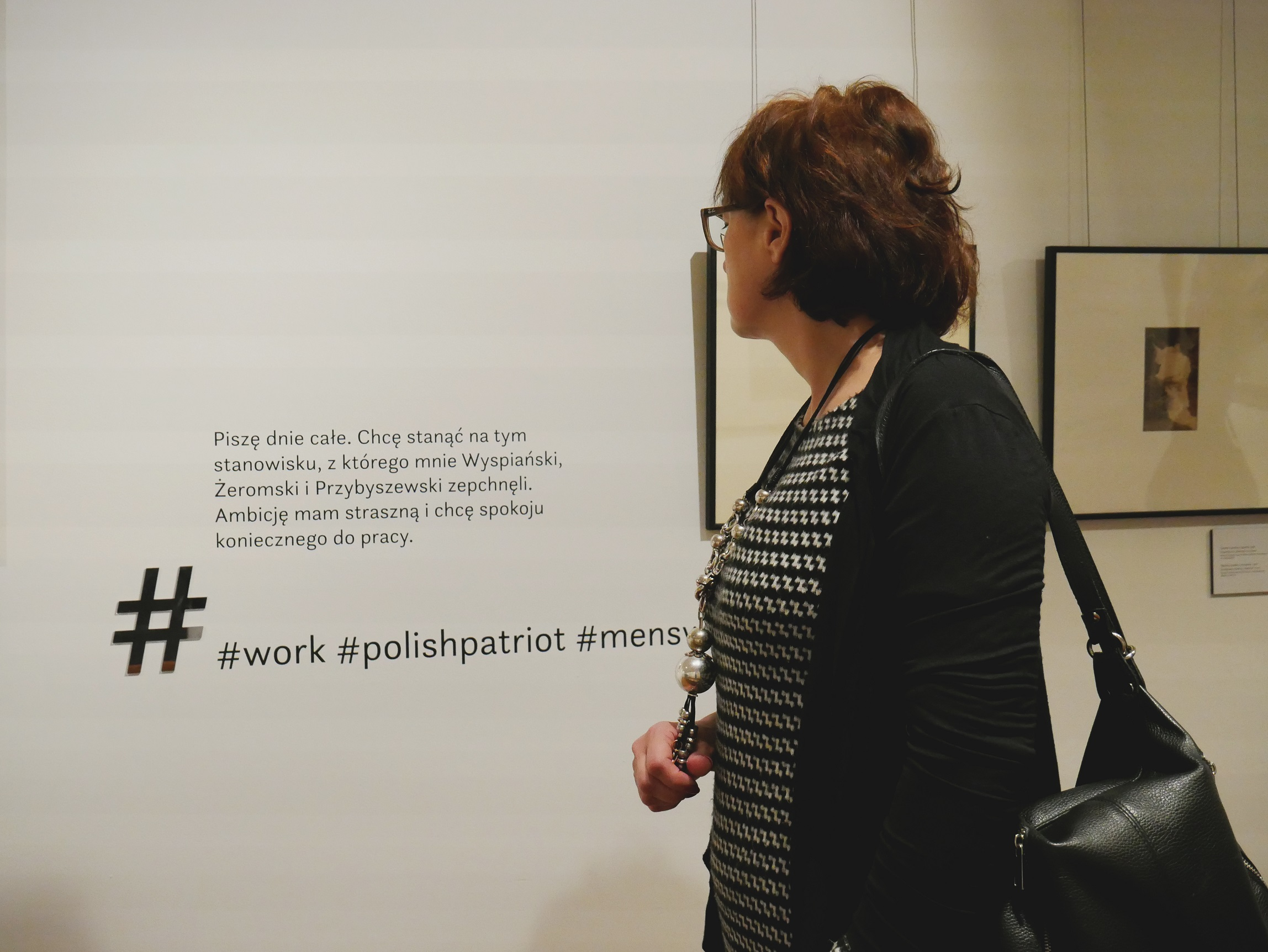 fragment wystawy #ZAPOLSKA fot. Marta Gierucka