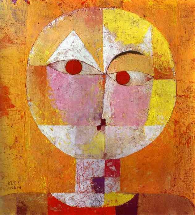 """Paul Klee, """"Senecio"""", 1922, olej na gazie, Muzeum Sztuki w Bazylei,  źródło grafiki: Wikipedia"""