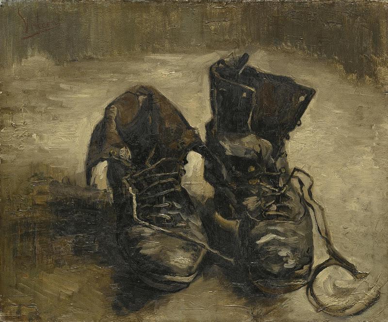 "Vincent van Gogh, ""Para butów"", olej na płótnie, 1886, Muzeum Vincenta van Gogha w Amsterdamie"