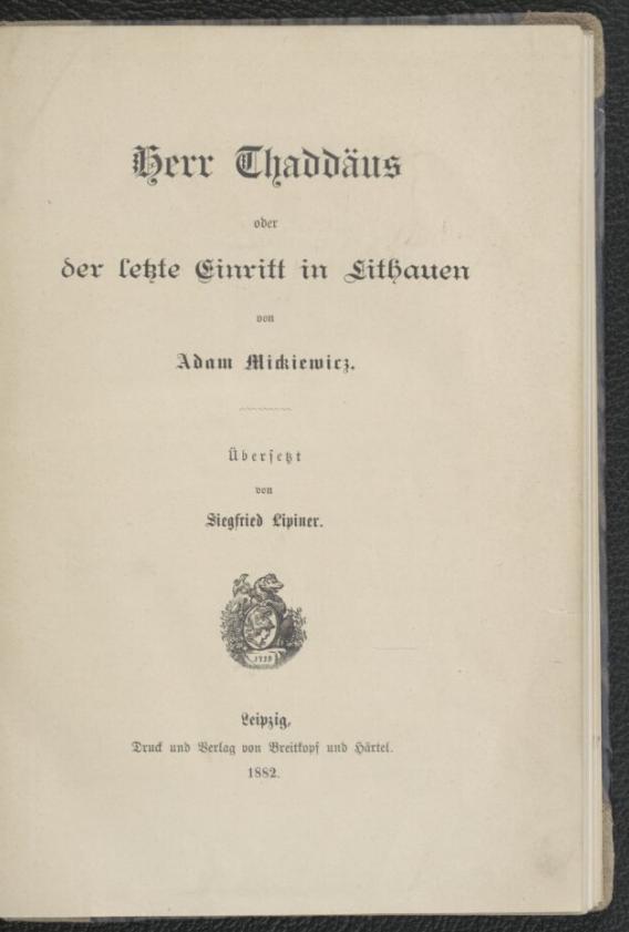 tłum. Siegfried Lipiner, 1882, Polona