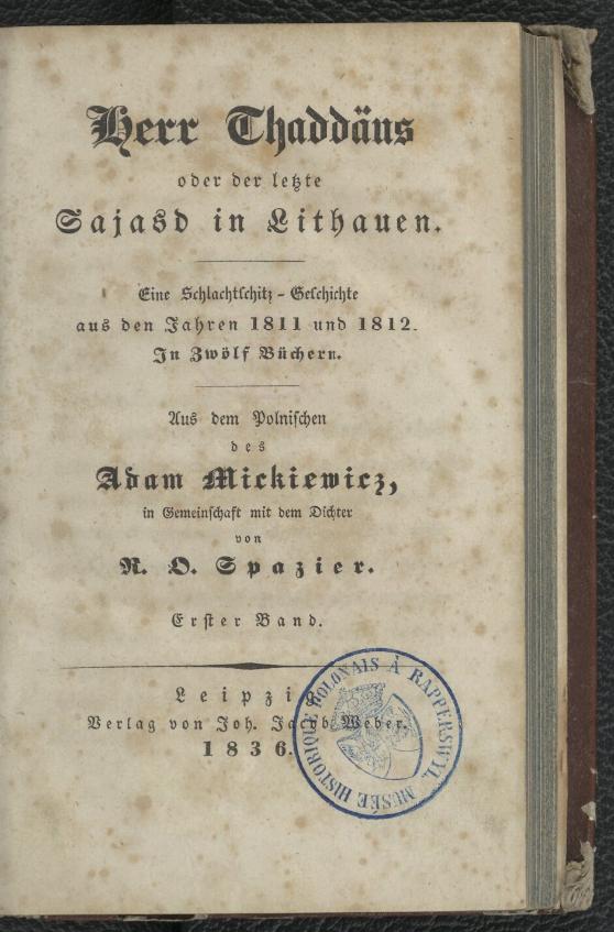 tłum. Richard Otto Spazier, 1836, Polona