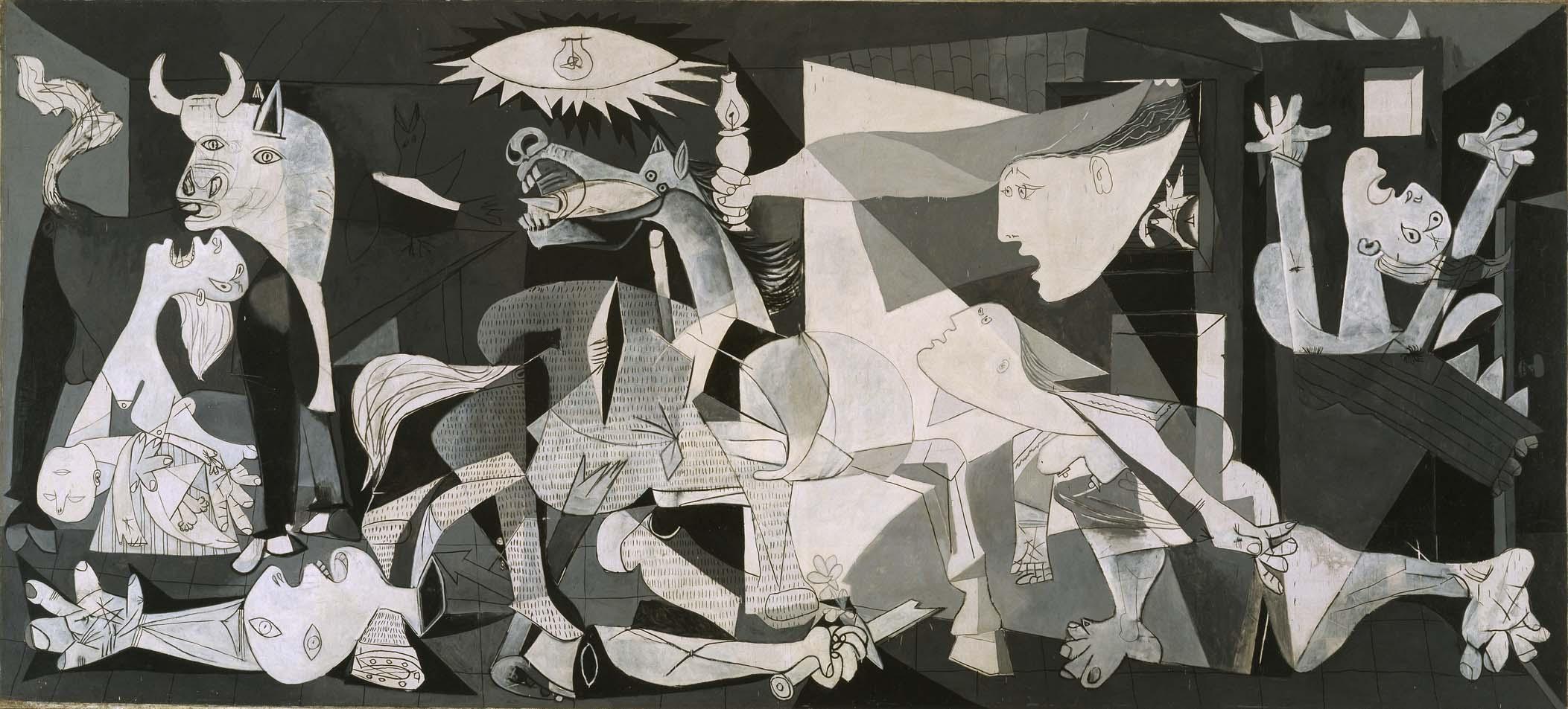 """""""Guernica"""", Pablo Picasso, 1937, Museo Nacional Centro de Arte Reina Sofía, Madryt źródło: https://www.museoreinasofia.es/coleccion/sala/sala-206"""