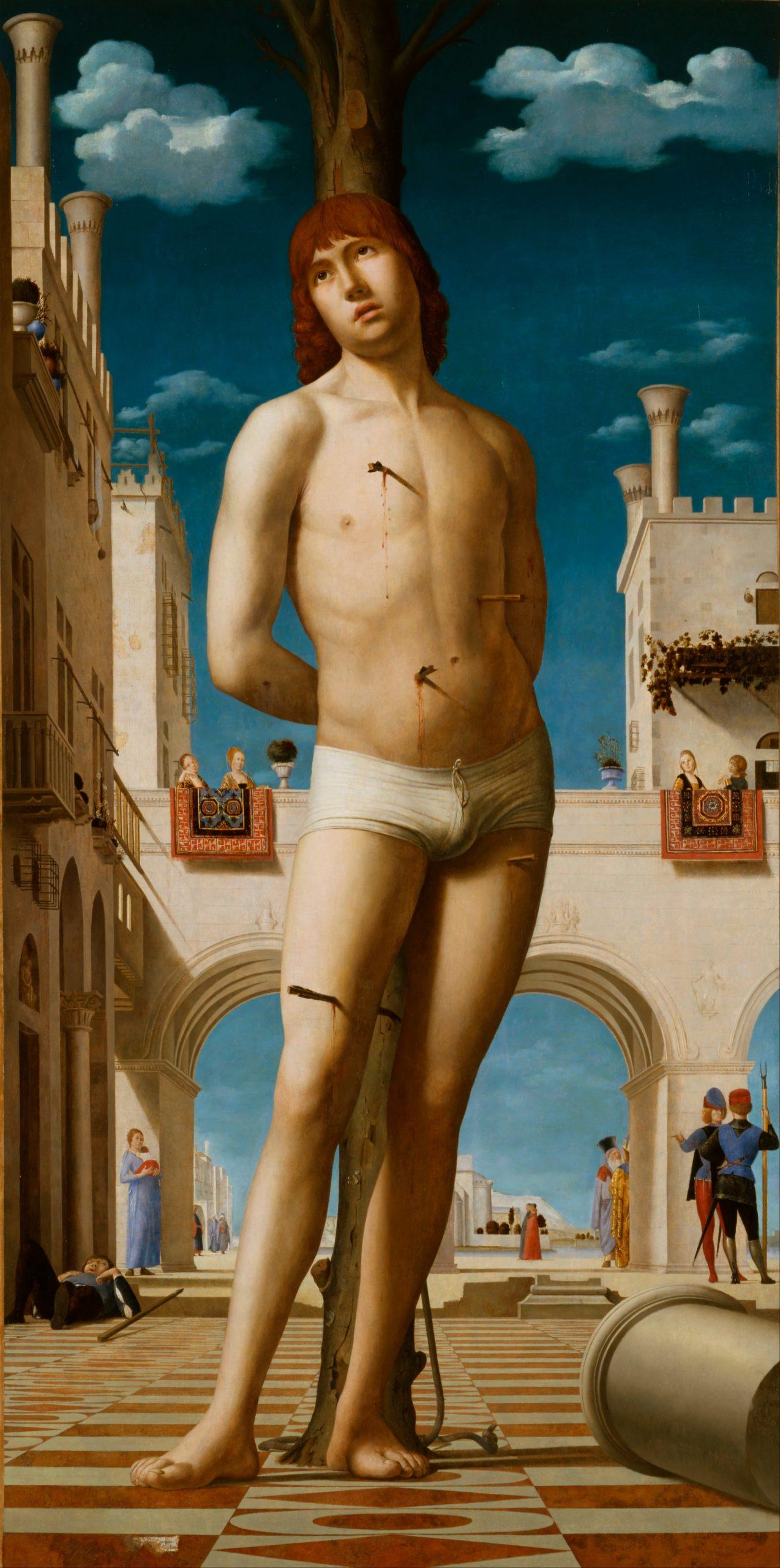 """""""Św. Sebastian"""", Antonello da Messina, ok. 1478, Galeria Obrazów Starych Mistrzów, Drezno, źródło: Wikipedia"""