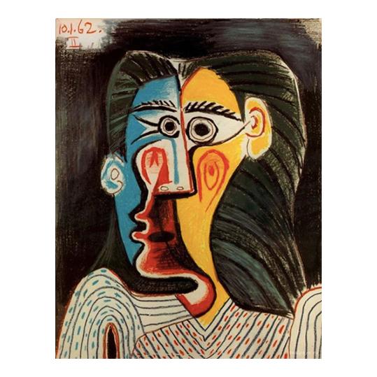 """Pablo Picasso, """"Twarz kobiety"""", 1962"""