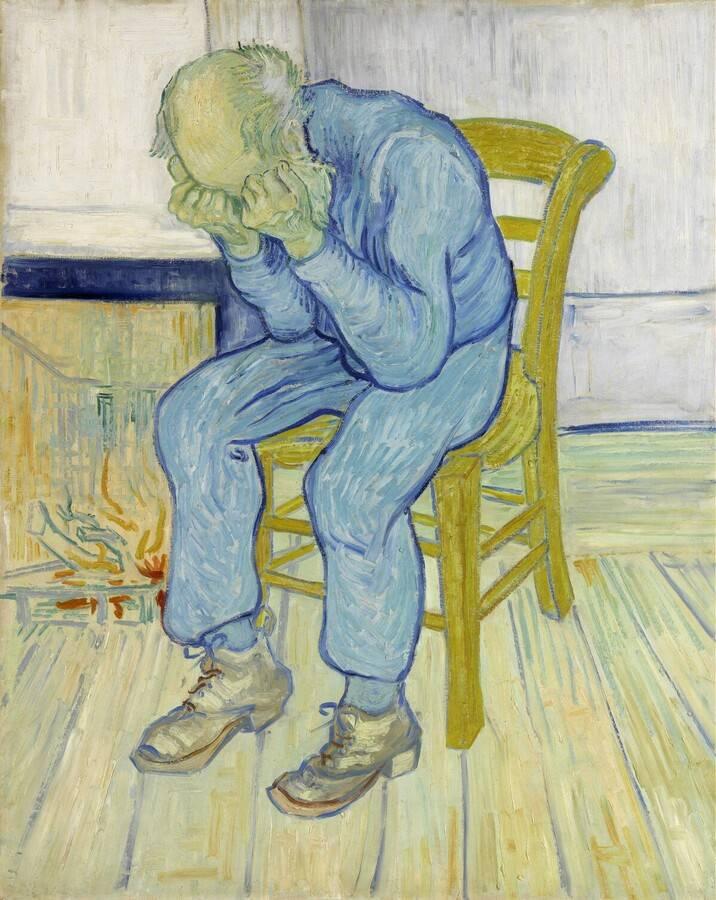 """Stary człowiek w smutku"", Vincent van Gogh, 1890, Kröller-Müller Museum"