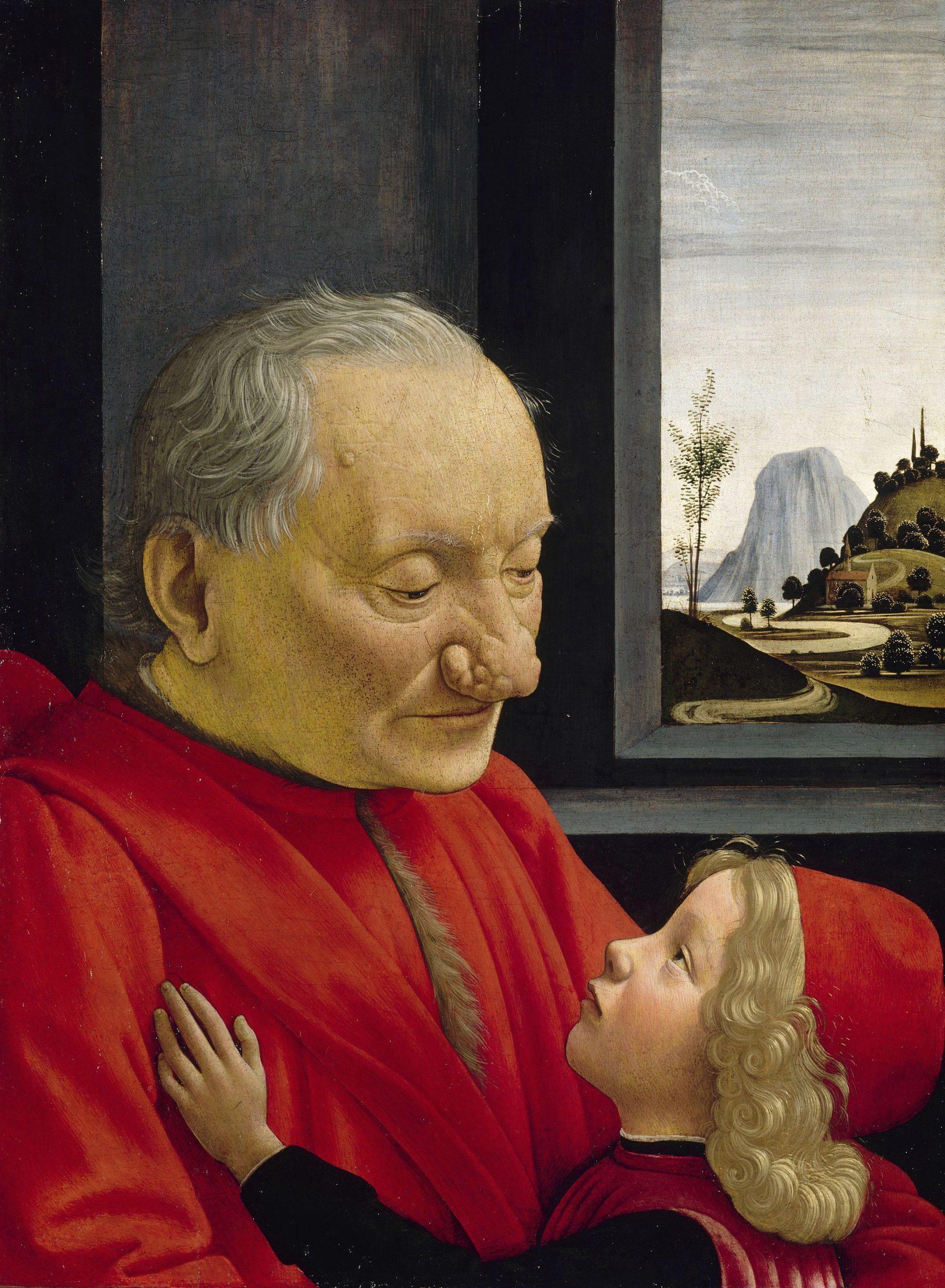 """Domenico Ghirlandaio, """"Portret starca i chłopca"""", ok 1490, Luwr, źródło: Wikipedia"""