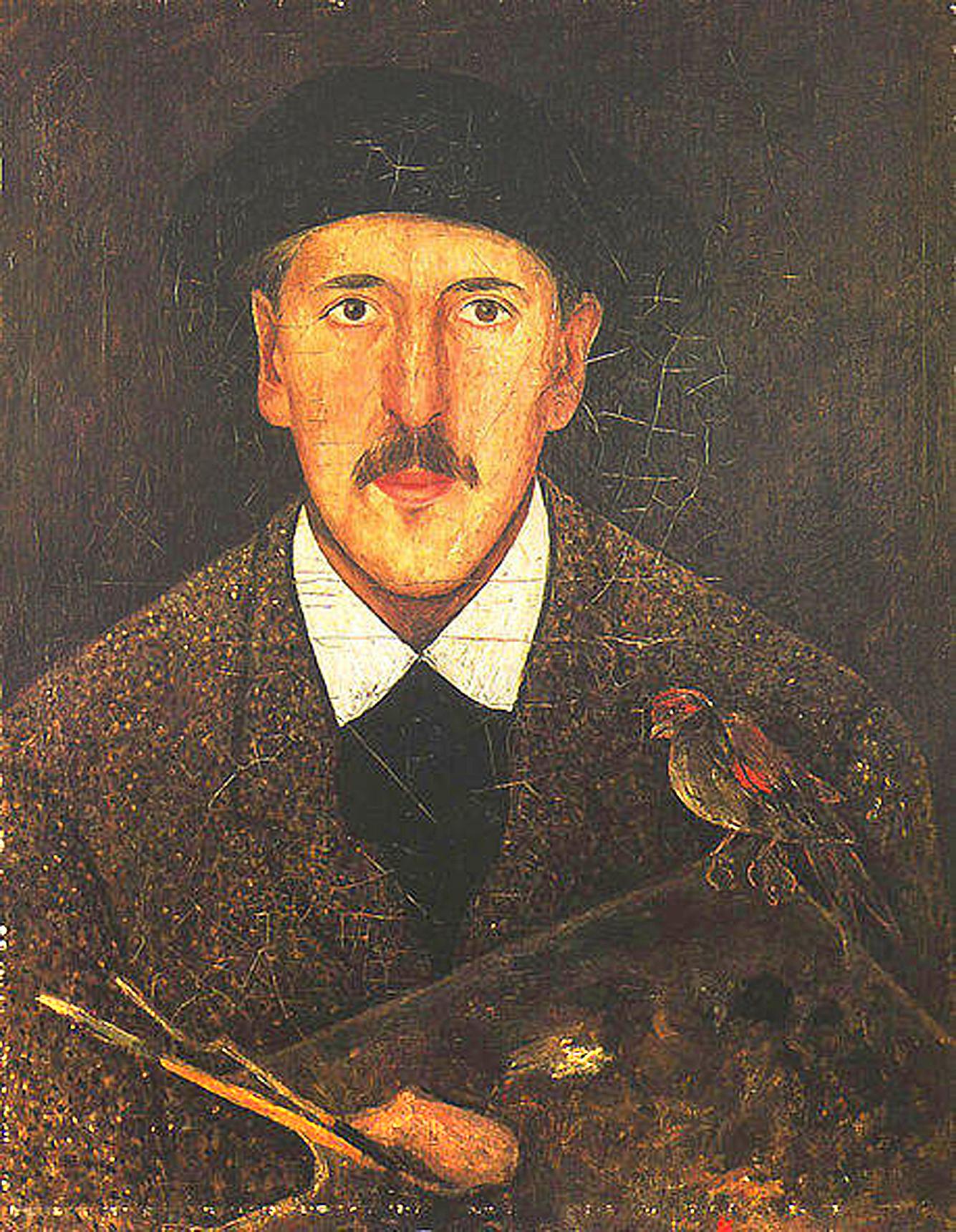 """Tadeusz Makowski, """"Autoportret"""", 1917–1921, Muzeum Narodowe w Krakowie"""