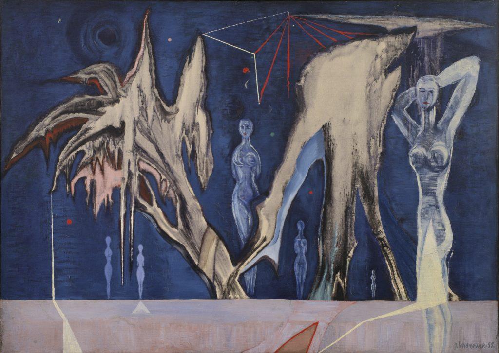"""J. Tchórzewski, """"Wieczór"""", 1955, Kolekcja Zachęty. Treść udostępniana na licencji Creative Commons CC BY-NC-ND 3.0"""