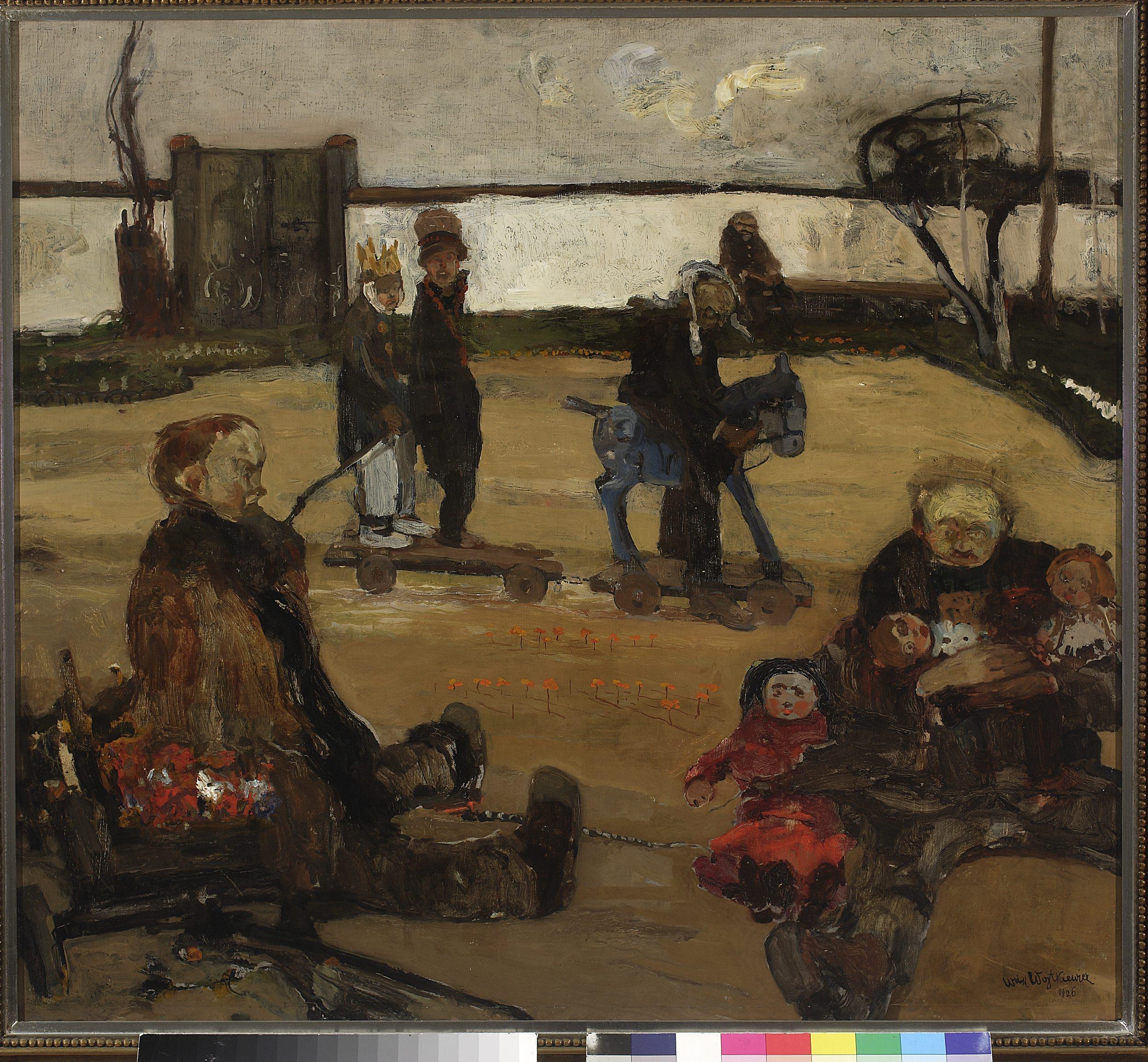 """Witold Wojtkiewicz, """"Cyrk wariatów"""" z cyklu """"Obłęd"""", 1906, Muzeum Narodowe w Warszawie"""