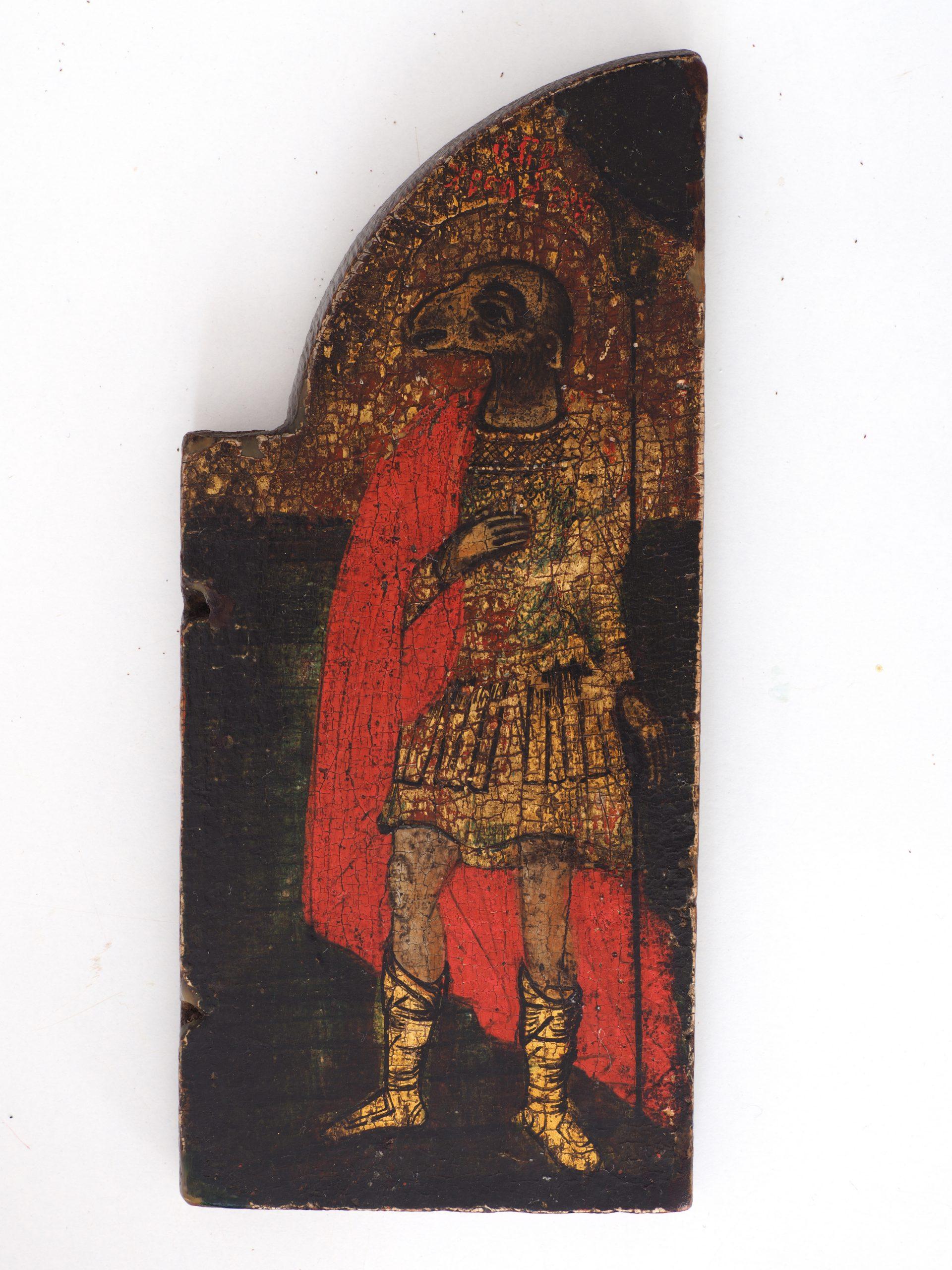"""Święty Christophoros kynokephalos"", tempera na desce, Grecja XVIII w., Ikonen-Museum Recklinghausen, CC BY-NC-SA 3.0 DE"