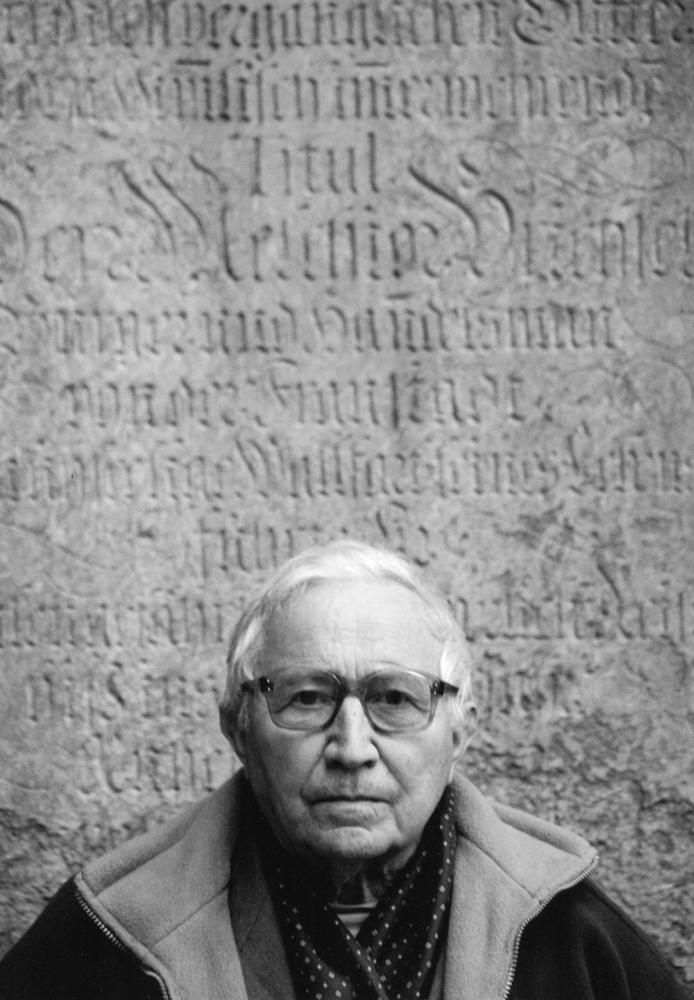 """Tadeusz Różewicz, z cyklu """"Epitafium i wiatr..."""", fot. Janusz Stankiewicz"""