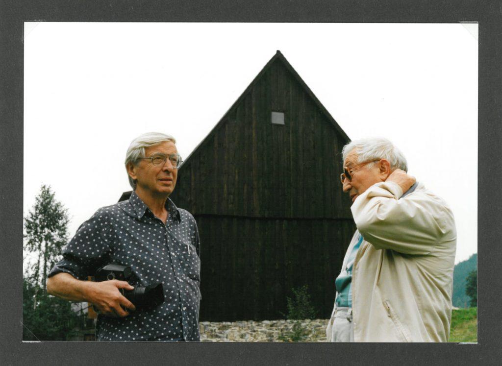 Zbigniew Dłubak i Tadeusz Różewicz, fot. Jerzy Olek