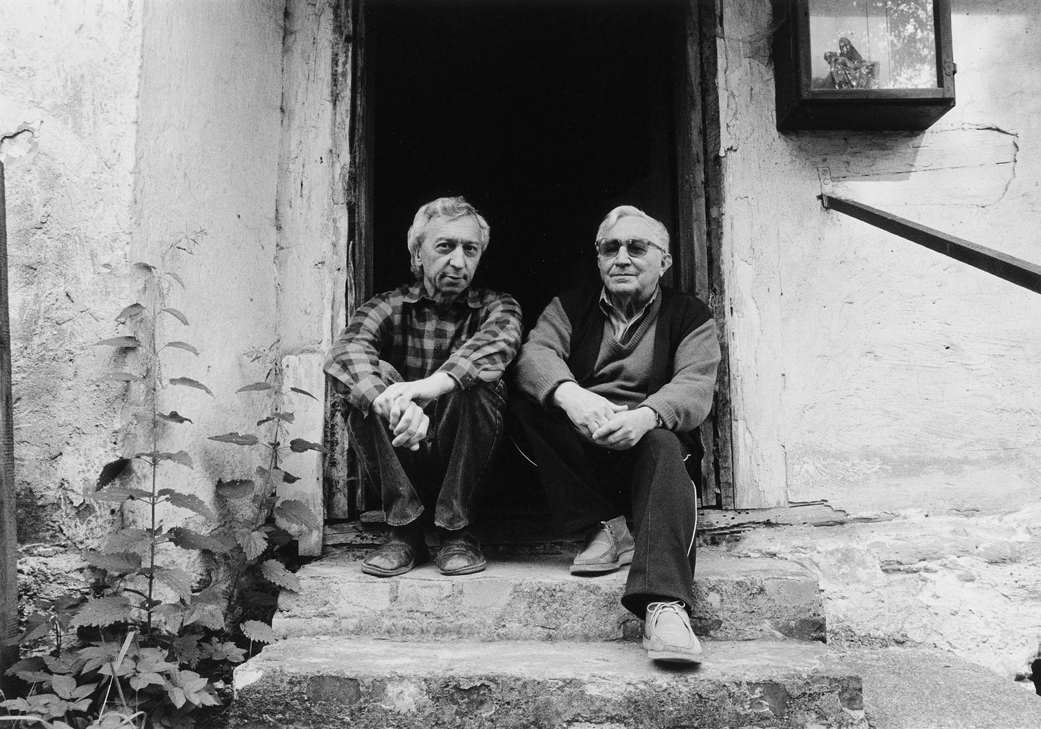 Jerzy Olek i Tadeusz Różewicz, archiwum Jerzego Olka